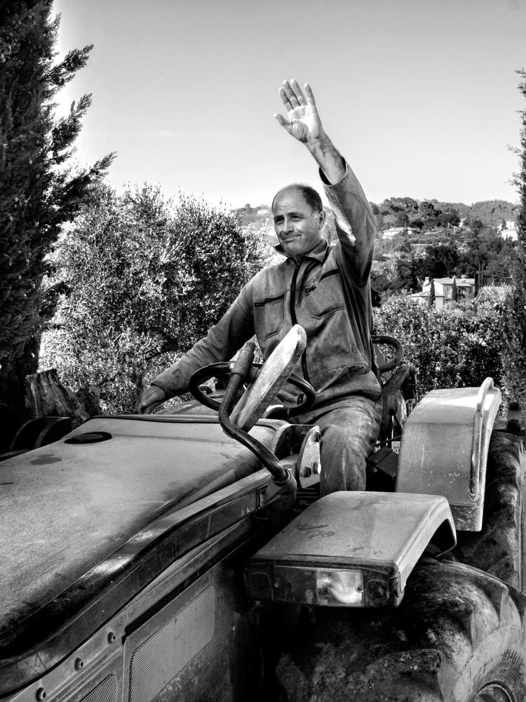 Gerardo sul trattore